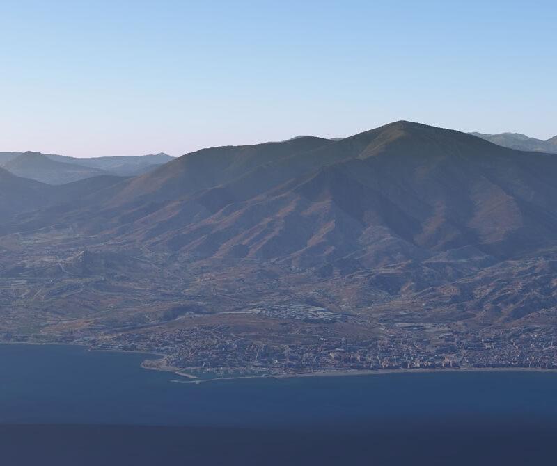 La ciudad de Estepona por Google Earth.
